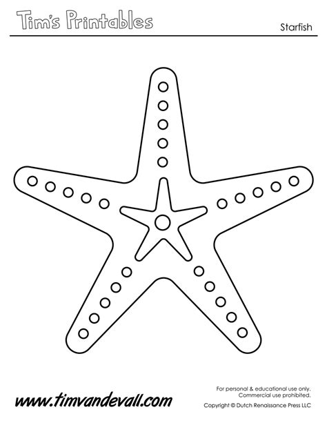 starfish template tim de vall comics printables for