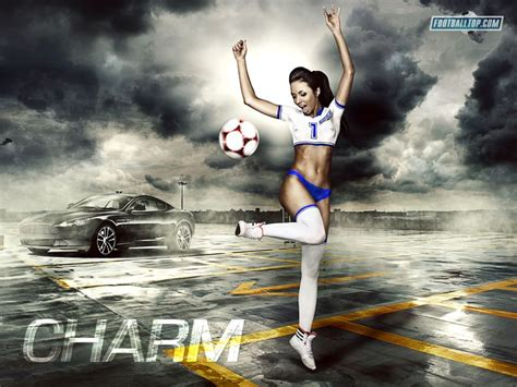 wallpaper girl football 17 best images about football soccer wallpapers on