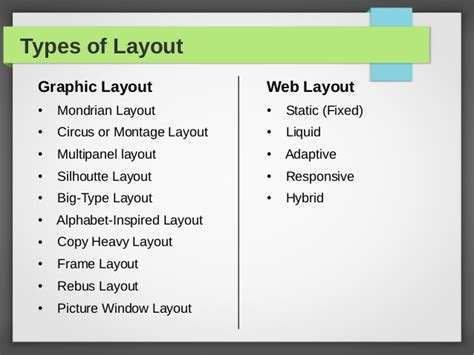 web design layout types types of layouts by admec multimedia institute