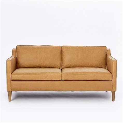 hamilton sofa and leather hamilton leather sofa 68 quot west elm