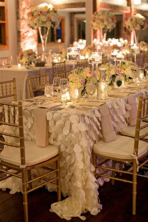 decor draped petal table linens 2029435 weddbook