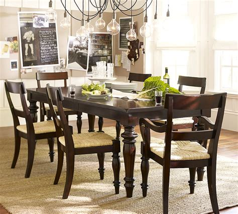 dining room table pictures pottery barn montego turned leg dining table copycatchic