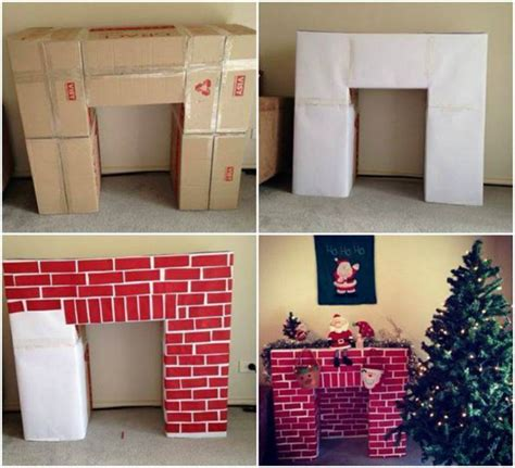 creative ideas diy cardboard decorative fireplace