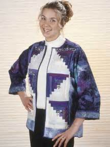 quilting classics log cabin jacket free quilting pattern