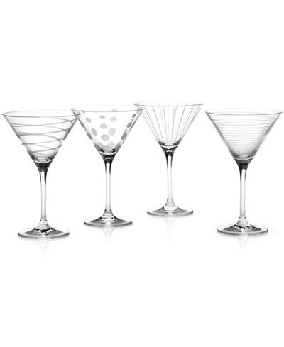 martini glasses cheers mikasa quot clear cheers quot martini glasses set of 4