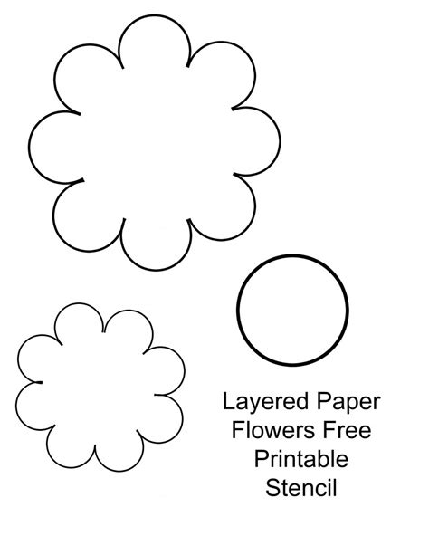 printable paper stencils papercraft flowers in the playroom