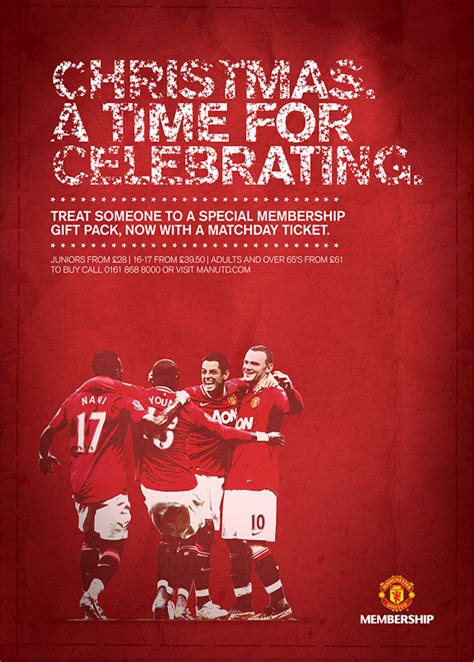 manchester united christmas poster on behance