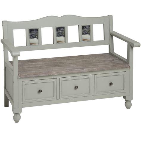 Lyon grey storage bench   Bedroom Furniture Direct