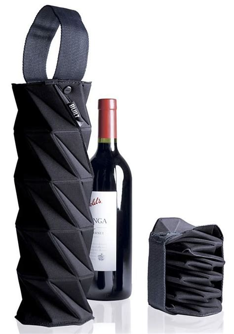 Built Origami Wine Tote - origami structure transport bottle wine fitting