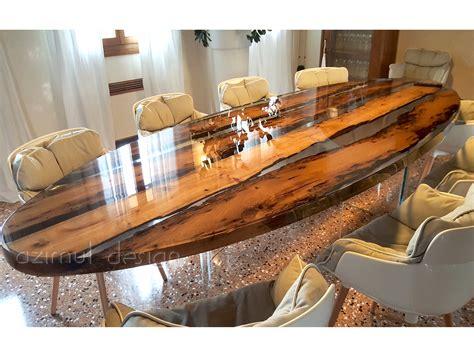 tavolo in resina laguna tavolo ovale by azimut resine