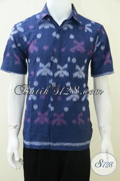 Baju Kemeja Bahan Linen Tenun baju tenun pria warna biru bahan katun adem harga murah terjangkau ld1786n l toko batik