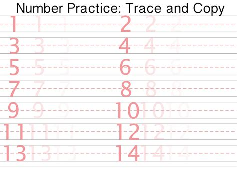 Printable Number Writing Practice Sheets