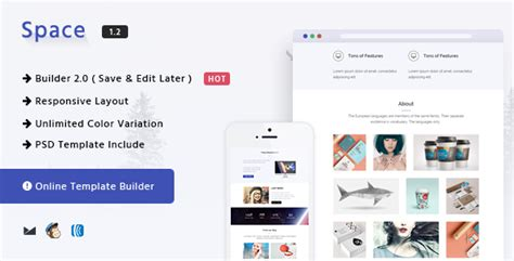 free html email template builder themeforest space responsive html email template