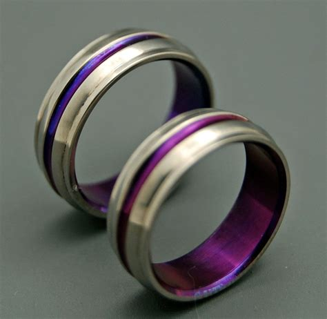 Eheringe Lila by Titanium Wedding Bands Wedding Rings Titanium Rings Purple