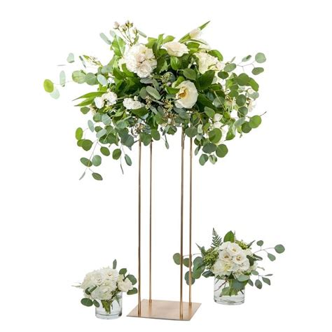 style wedding metal gold flower vase column stand