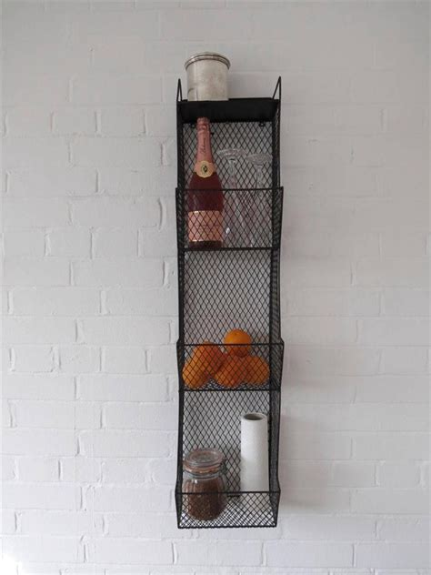Metal Wall Rack by Kitchen Storage Metal Wire Wall Rack Shelving Display