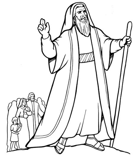 Coloring Page Of printable moses coloring pages coloring me