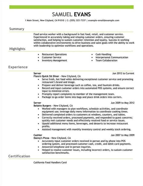 Resumes That Work by Free Resume Exles By Industry Title Livecareer