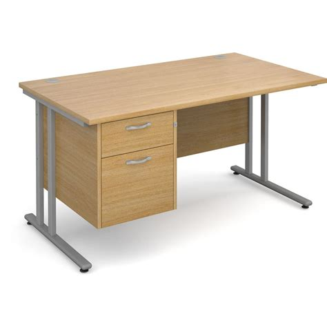 Desk Oak Effect Staples 174 Office Desks Staples