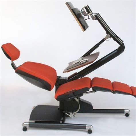 lay down desk chair office desk of the future new design shows we could all