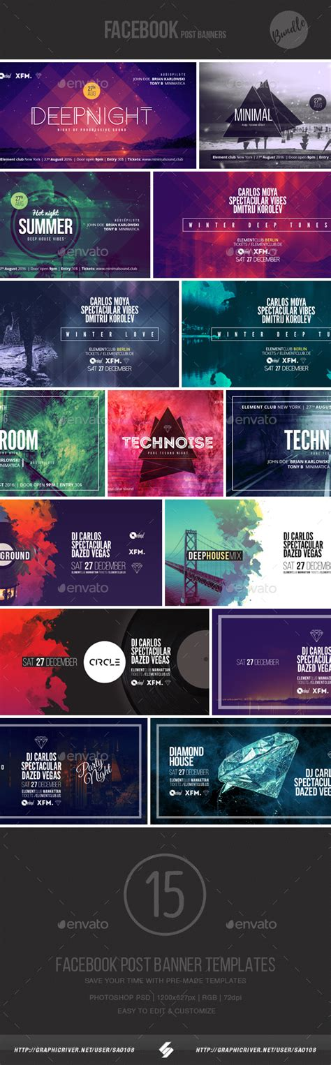 design event banner download electronic music event facebook post banner