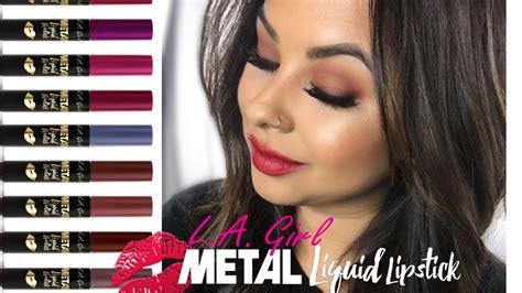 L A Metal Liquid Lipstick l a metal liquid lipstick swatches 18 shades