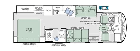 thor rv floor plans floor plans windsport 29m