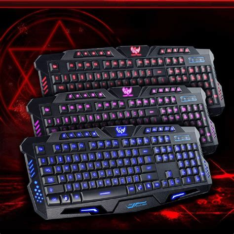 Keyboard Gamer Usb Wired With Led Backlight M 200 version m200 purple blue mode backlight led gaming keyboard usb wired for desktop