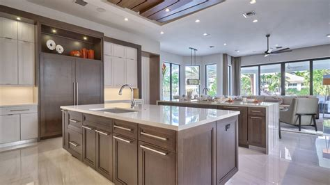 Kitchen With Two Islands 13 contemporary kitchens with limestone and rich wood