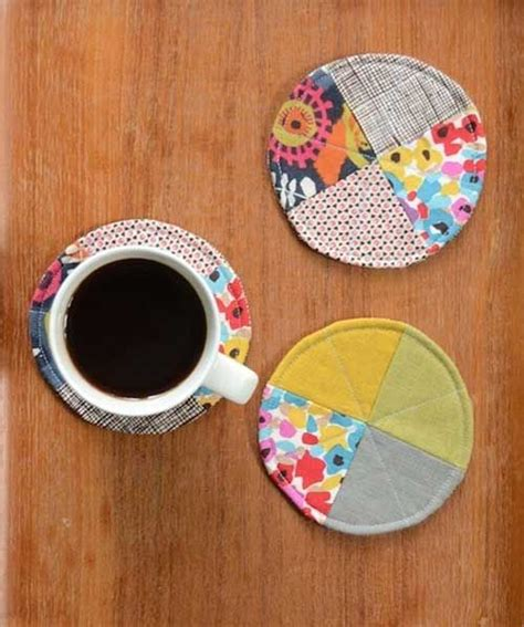 free pattern quilted coasters quilted circle coasters free sewing tutorial