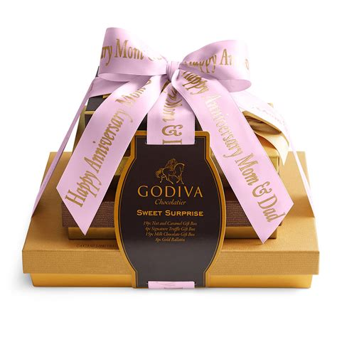 Godiva Gift Card Balance - sweet surprise gift tower custom ribbon godiva