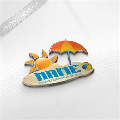 logo maker beach logo design