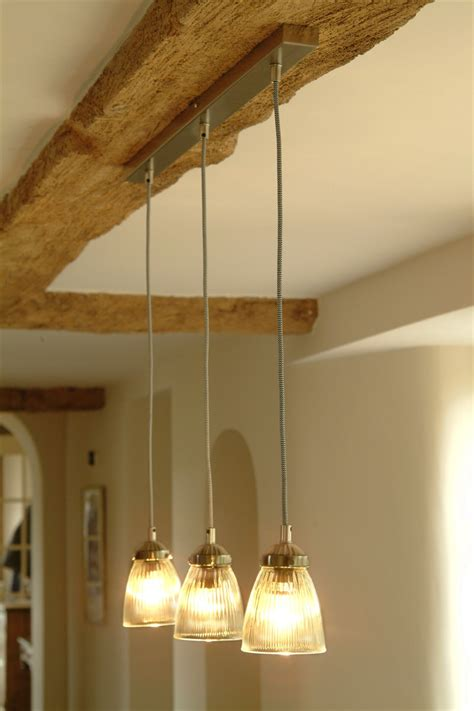 trio set of kitchen ceiling lights at garden trading