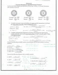 worksheets accuracy vs precision worksheet chicochino