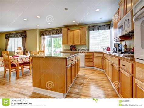 kitchen island area kitchen room with dining area stock image image of room