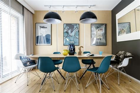 modern dining room designs combined with scandinavian