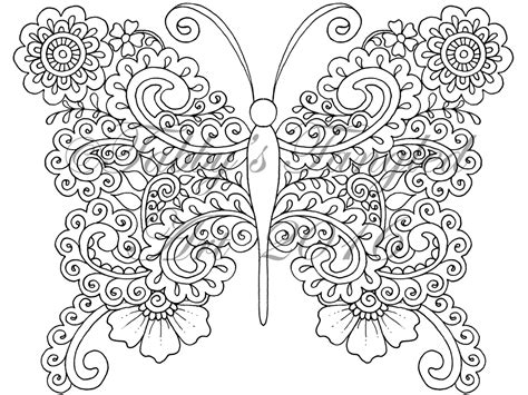 tangled butterflies coloring pack   pages