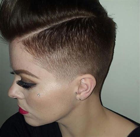 female fade hairstyles women with pixie fades google search gee pinterest