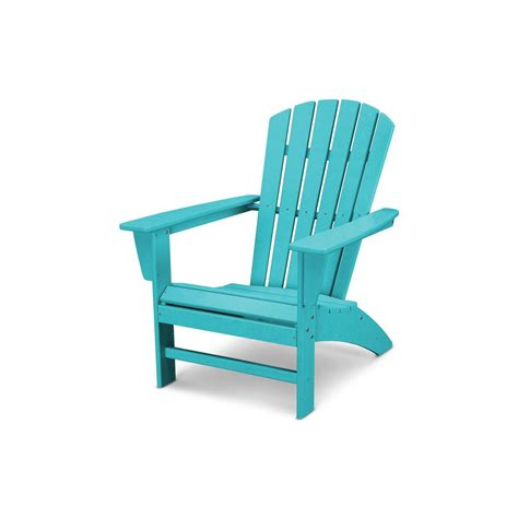 polywood traditional curveback aruba plastic outdoor patio adirondack chair adar  home depot