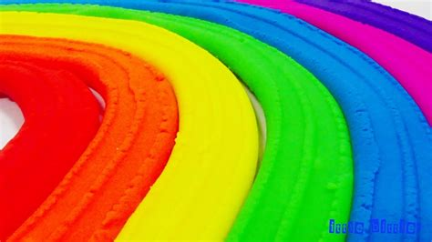 Rainbow Green learn to spell rainbow with play doh modeling clay