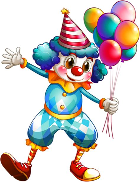 colored clown clown colored dessin couleur png clown et ballons