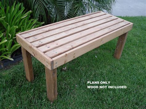 diy plans   flat bench outdoor furniture