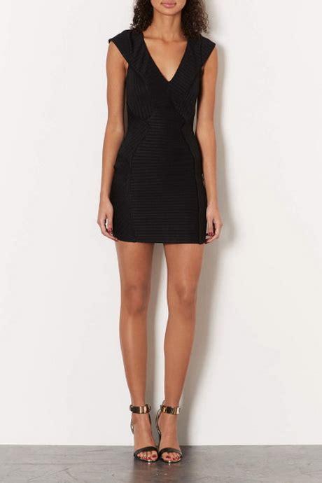 Emboss Dress Bodycon By Topshop topshop black dress