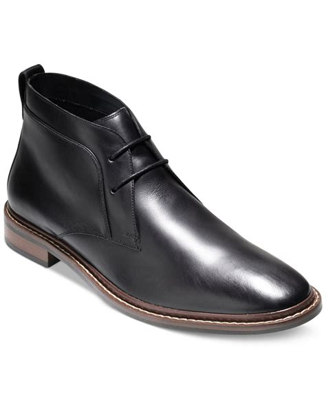 cole haan s boots cole haan s graydon chukka boots in black for lyst