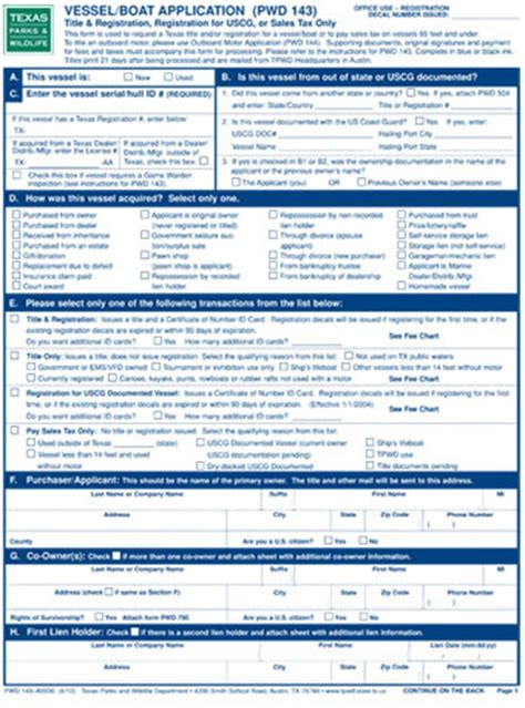 texas boat registration size buying and selling a vessel tx boat ed