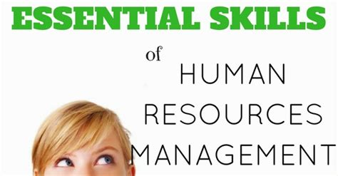 top 20 essential skills of human resources management