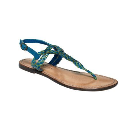 cobalt blue flat shoes laundry flat sandals in blue cobalt blue