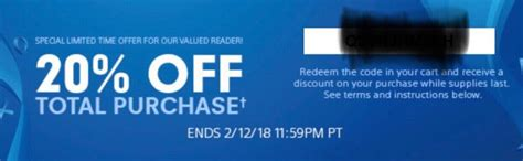 discount voucher psn sony sending out playstation store discount codes