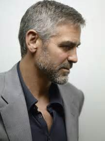salt and pepper hair for 50 george clooney