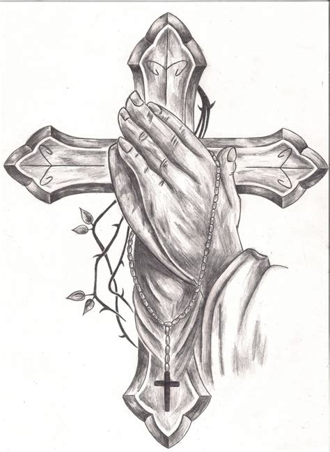 cross tattoo drawings praying hands tattoos designs ideas